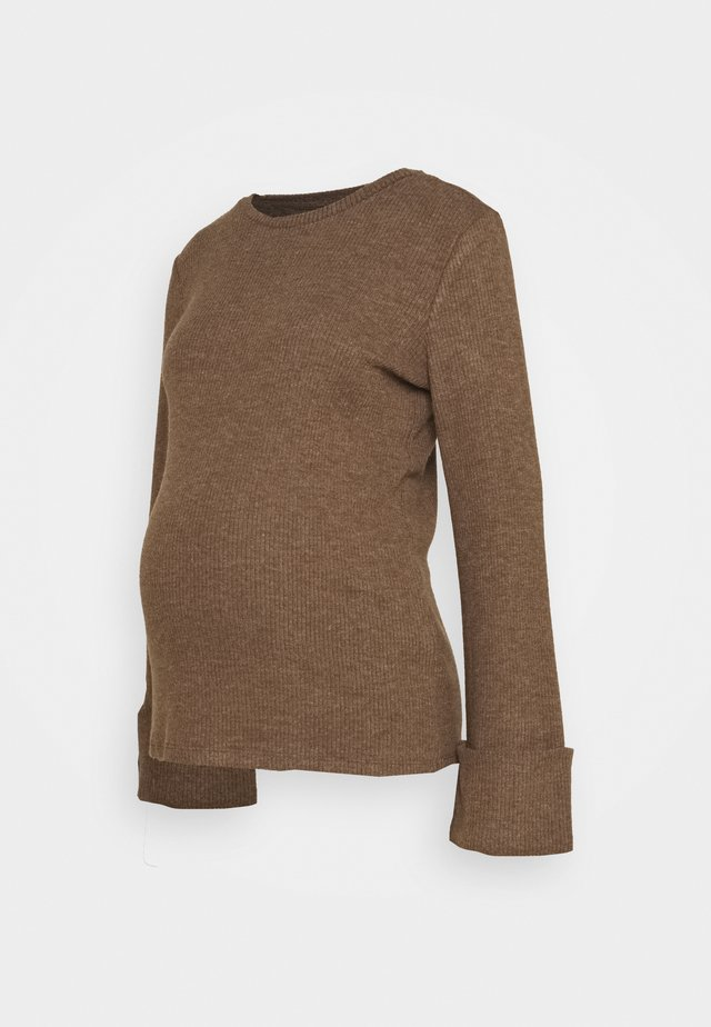 PCMHERMIONE - Stickad tröja - taupe
