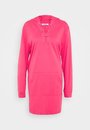 EYELET DRESS - Day dress - bright pink