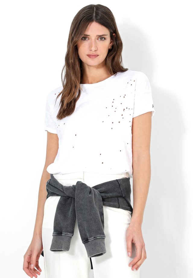 HOLES - T-shirt con stampa - white