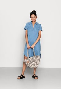 Zign - Denim dress - light blue - 1