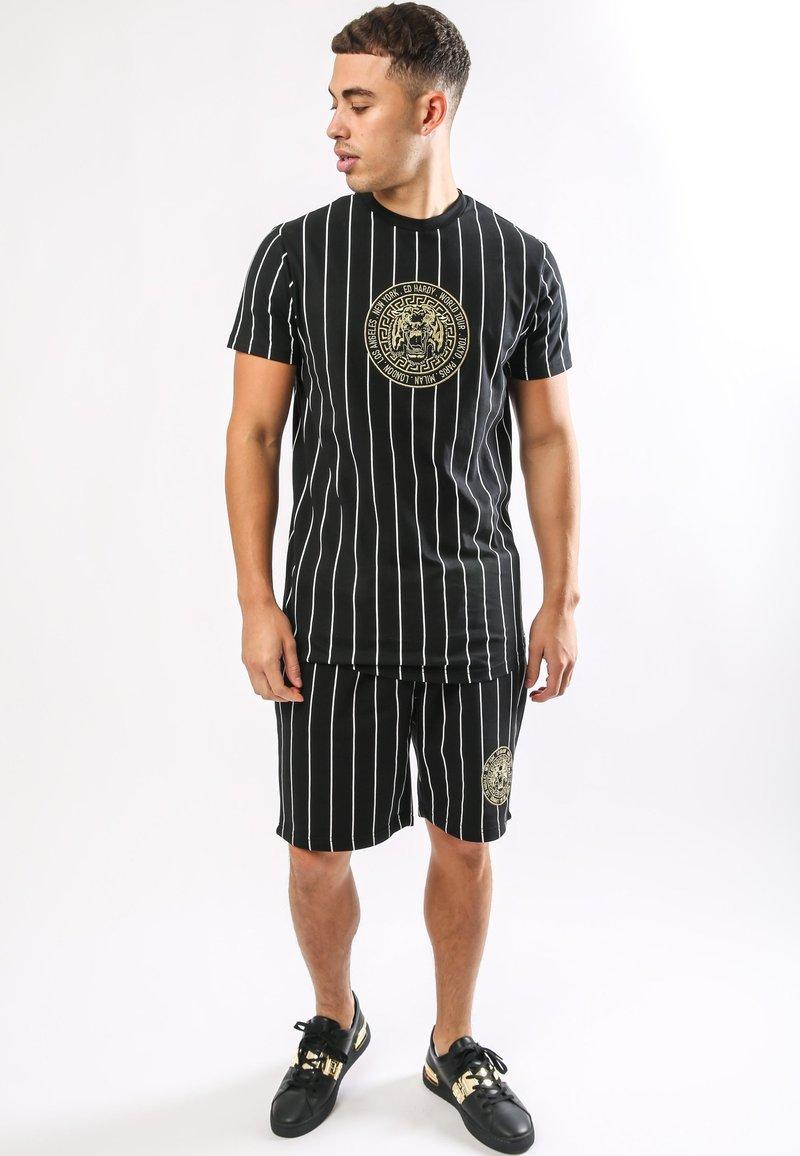 Ed Hardy - ROAR-TOUR T-SHIRT - Print T-shirt - black