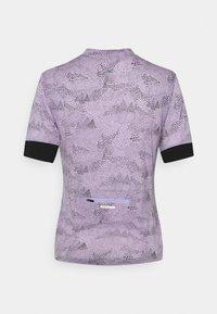 Mons Royale - CADENCE HALF ZIP - T-Shirt print - lilac micro - 1