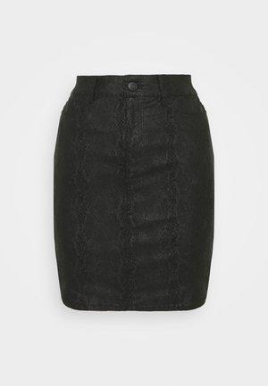 VMSEVEN  ANIMAL - Pencil skirt - black
