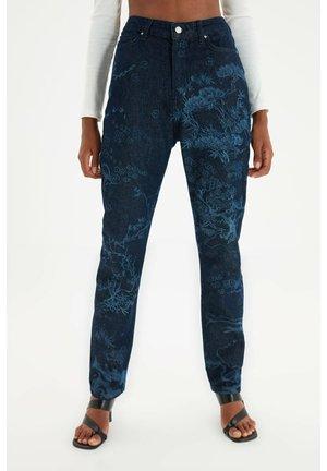 Straight leg jeans - navy blue