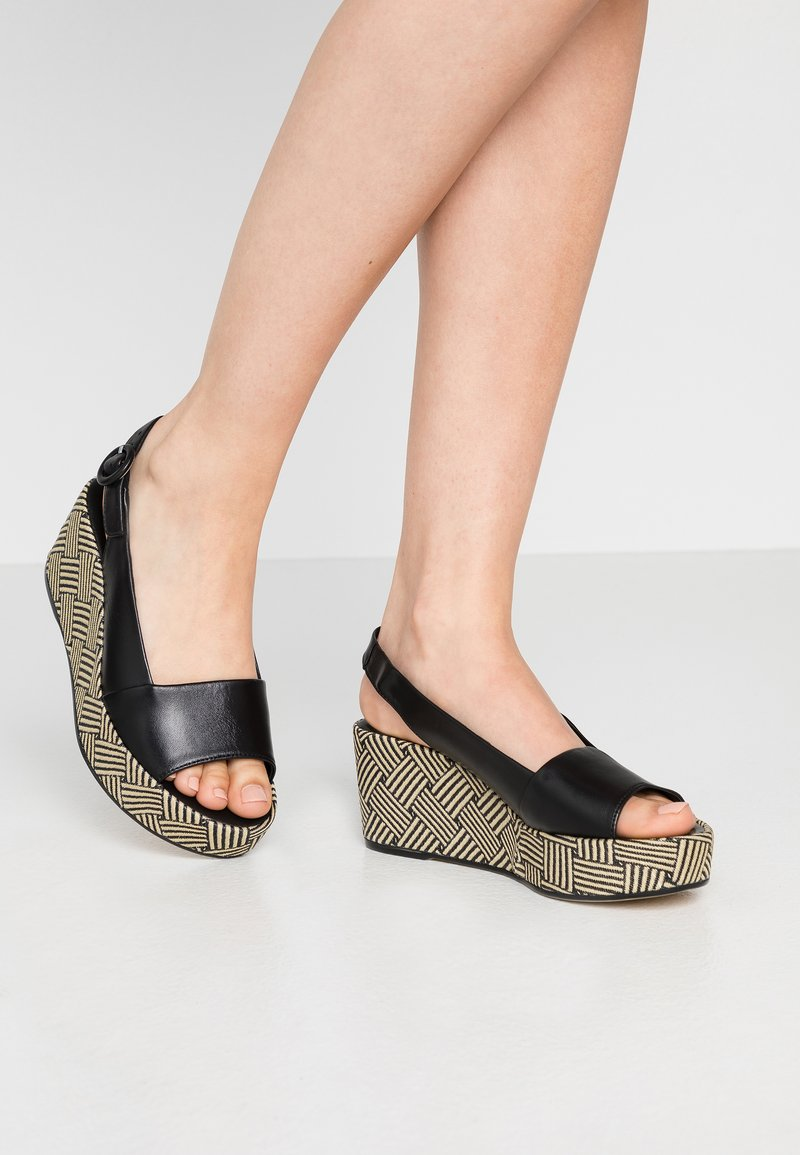 Högl - Platform sandals - schwarz
