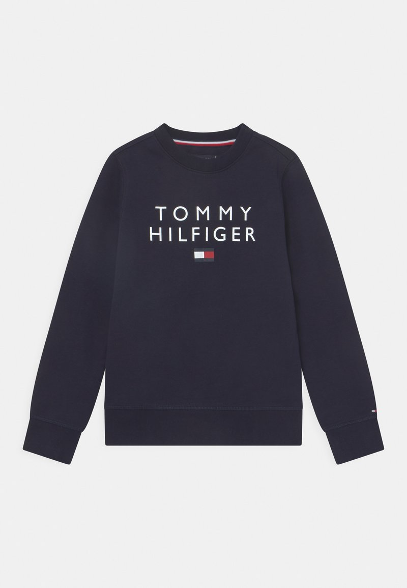 Tommy Hilfiger - FLAG CREWNECK - Felpa - desert sky