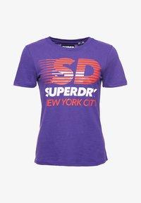 Superdry - SPORT CLASH - Print T-shirt - winter purple - 3