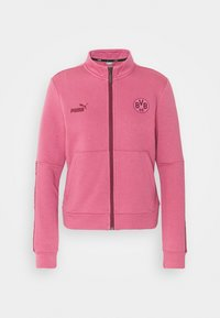 BVB BORUSSIA DORTMUND CULTURE TRACK JACKET - Club wear - rose wine/burgundy