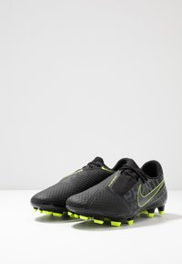 Nike Performance - PHANTOM  ACADEMY FG - Moulded stud football boots - black/volt - 2