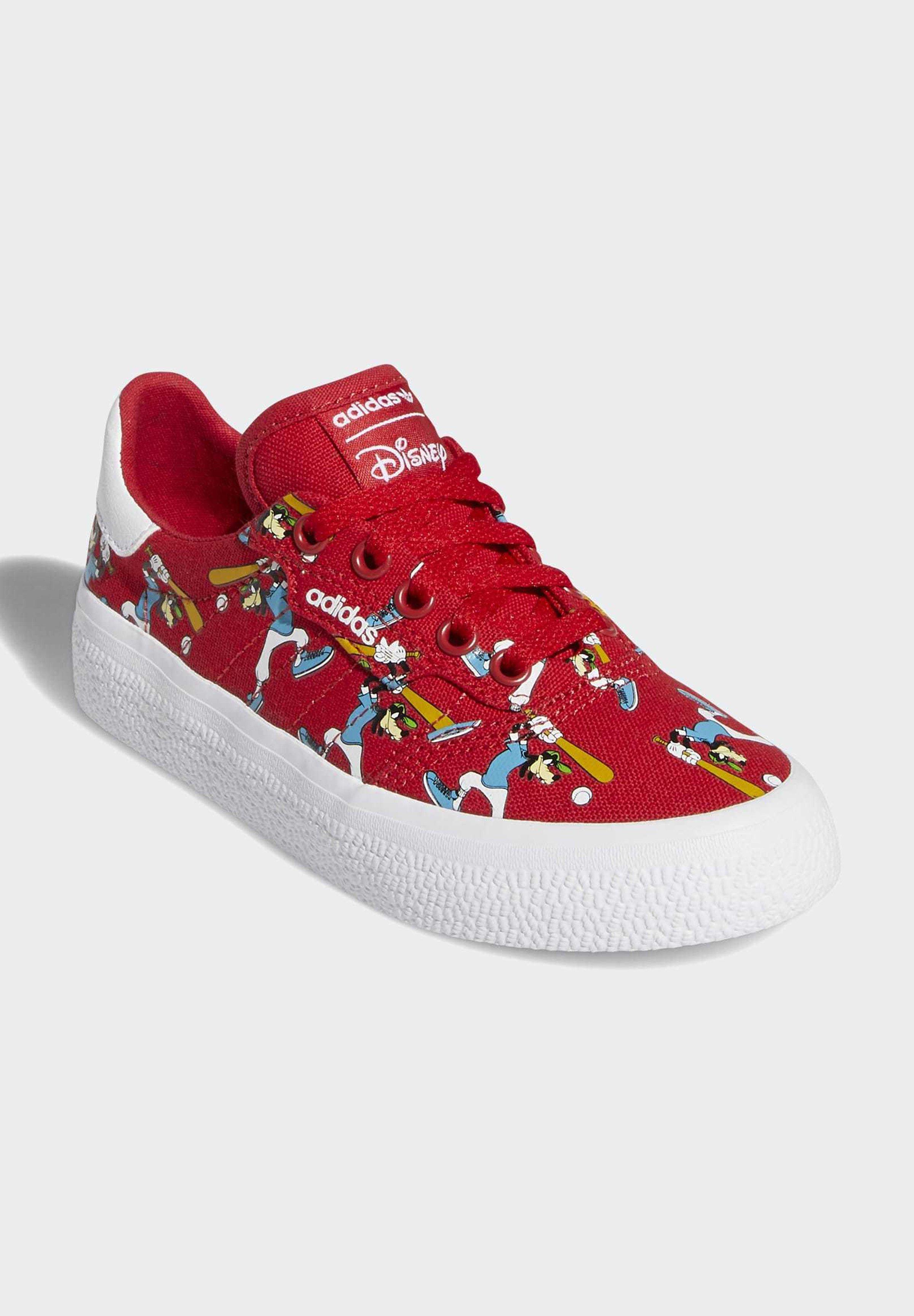 Adidas Originals 3mc X Disney Sport Goofy Shoes - Joggesko Red