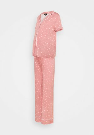 PIPED SHIRT NIGHT - Pyjama - rose