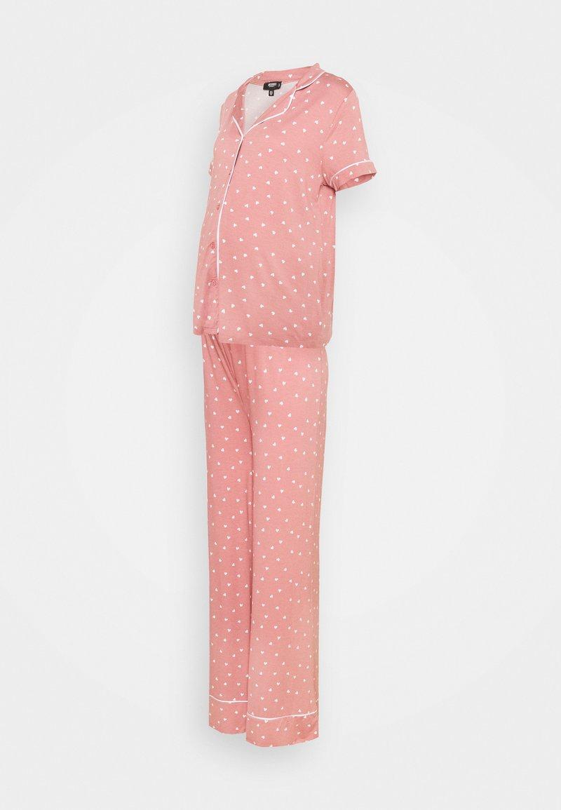 Missguided Maternity - PIPED SHIRT NIGHT - Pyžamo - rose