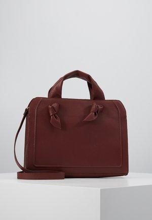 LEATHER - Handbag - maroon