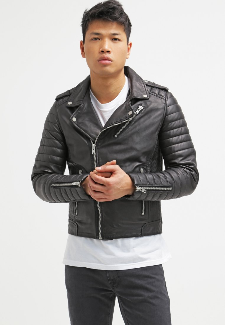 Serge Pariente - HIPSTER  - Leather jacket - noir
