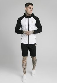 SIKSILK - SCOPE ZIP CONTRAST THROUGH HOODIE - Vest - black/white - 0