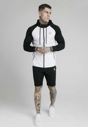 SCOPE ZIP CONTRAST THROUGH HOODIE - Strickjacke - black/white