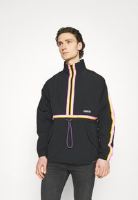adidas Originals - TAPED ANORAK UNISEX - Windbreaker - black - 0