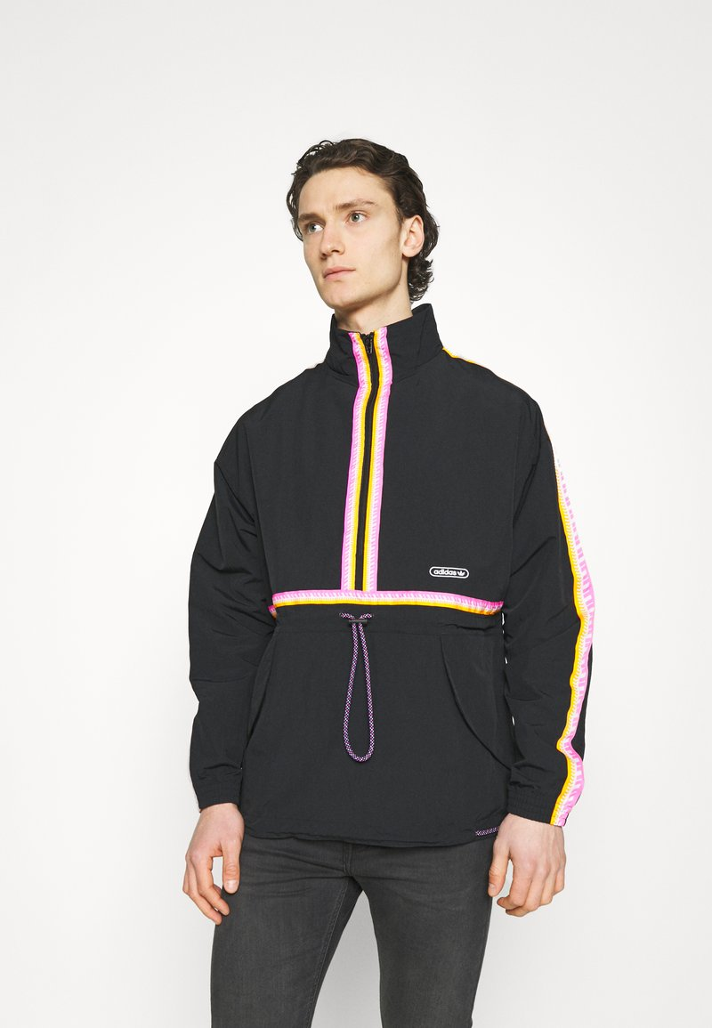 adidas Originals - TAPED ANORAK UNISEX - Windbreaker - black