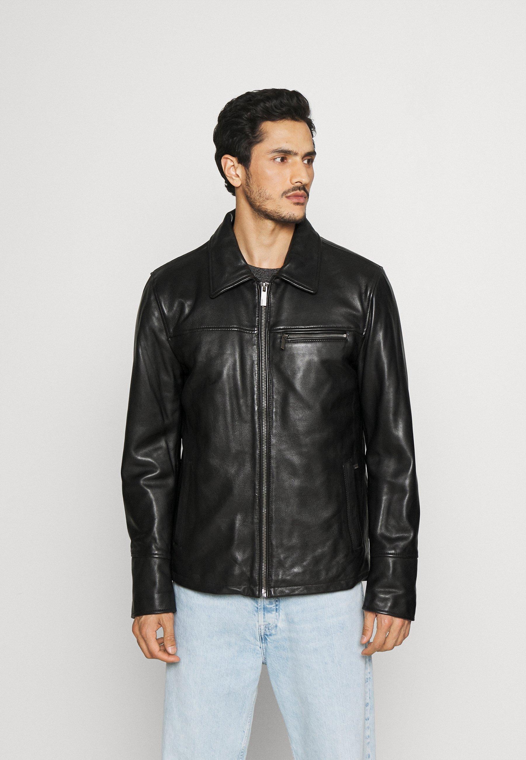 Men CRAWFORD - Leather jacket