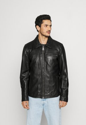 CRAWFORD - Leather jacket - black