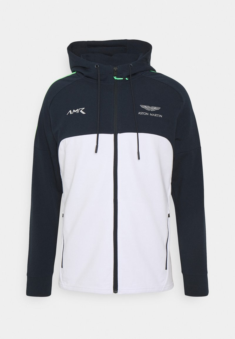 Hackett Aston Martin Racing - AMR RACER - Mikina na zip - navy/white