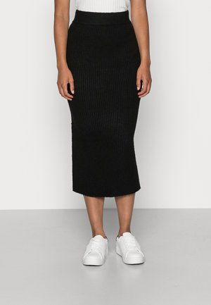 VOLVIC MIDI SKIRT - Pencil skirt - black
