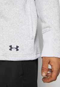 Under Armour - BASELINE FULL ZIP HOODIE - Hættetrøjer - mod gray full heather - 5