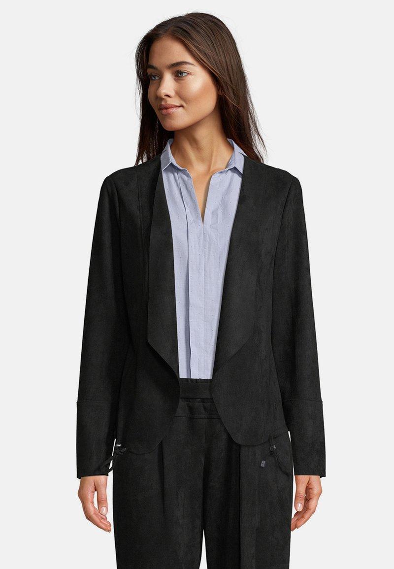 Betty & Co - Faux leather jacket - schwarz