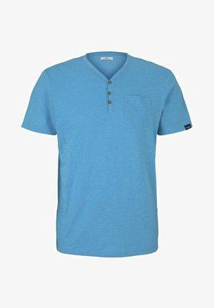 HENLEY  - T-shirt basic - aqua blue grindle melange