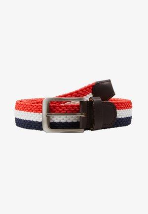 TILLÉ BELT - Pásek - dark blue/white/red