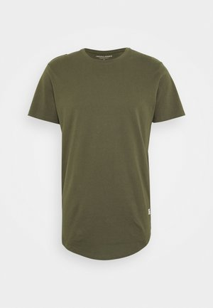 JJENOATEE CREW NECK  - Basic T-shirt - forest night