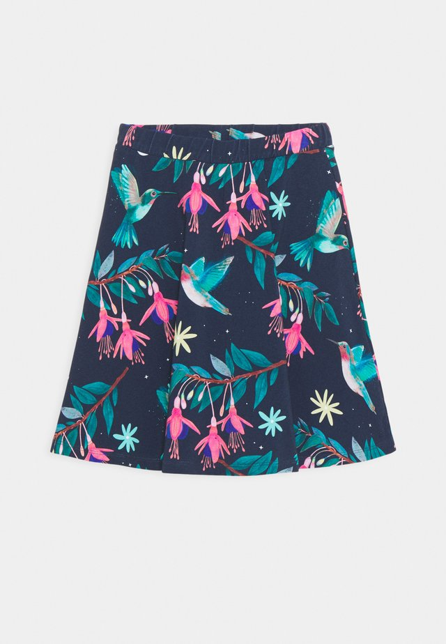 SKIRT HUMMINGBIRD TROPICAL - Gonna a campana - dark blue