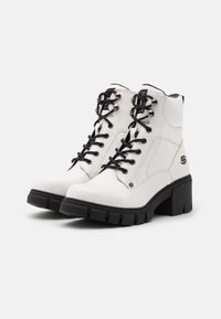 Dockers by Gerli - Platform ankle boots - weiß/schwarz - 2