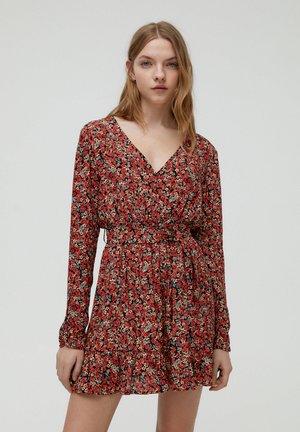 Robe d'été - mottled red