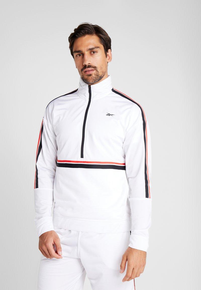 Reebok - WORKOUT READY TRAINING LONG SLEEVE T-SHIRT - Maglietta a manica lunga - white