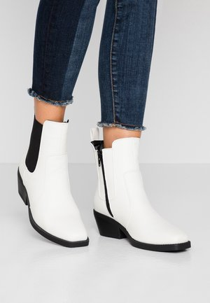 TESSA SQUARE TO WESTERN BOOT - Cowboy/biker ankle boot - offwhite