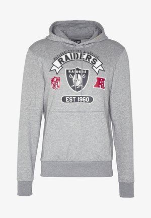 NFL GRAPHIC HOODY OAKLAND RAIDERS - Artykuły klubowe - grey