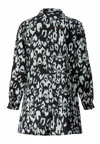 Sara Lindholm by HAPPYsize - Button-down blouse - schwarz off white - 4