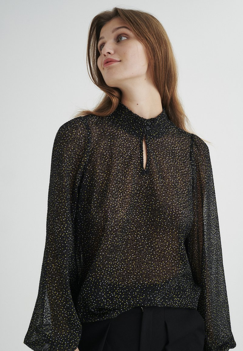 InWear - Blouse - black minimal dot