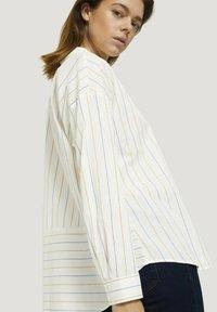 TOM TAILOR DENIM - Overhemdblouse - small creme blue yellow stripe - 3
