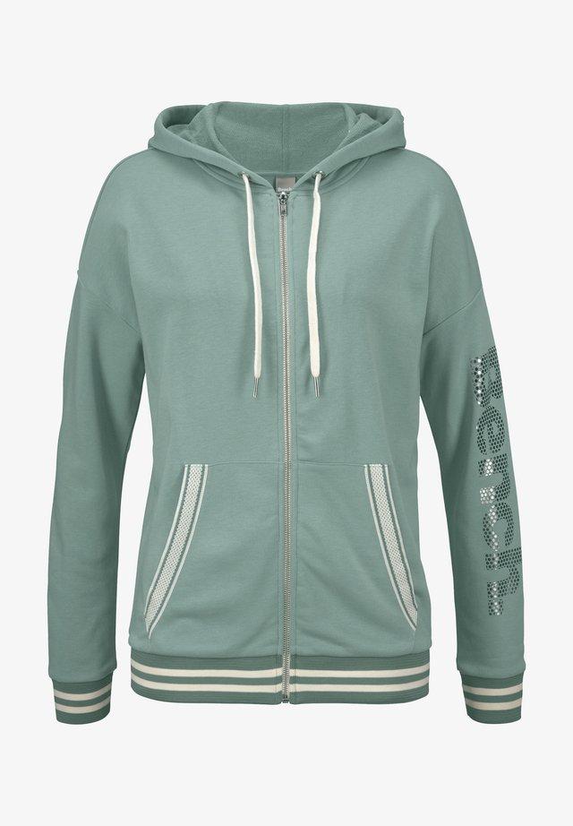 Zip-up hoodie - mint