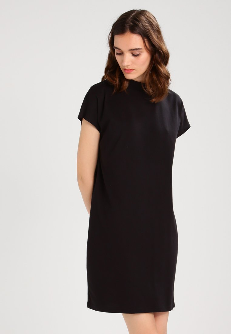 Weekday - PRIME DRESS - Žerzejové šaty - black