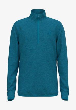 ROY KIDS STRIPE MIDLAYER 1/2 ZIP - Fleece jumper - blau