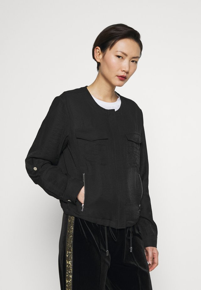ZIP FRONT  - Summer jacket - black