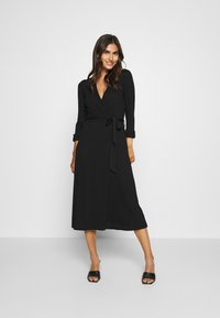 Esprit - WRAP DRESS - Maxi dress - black - 0