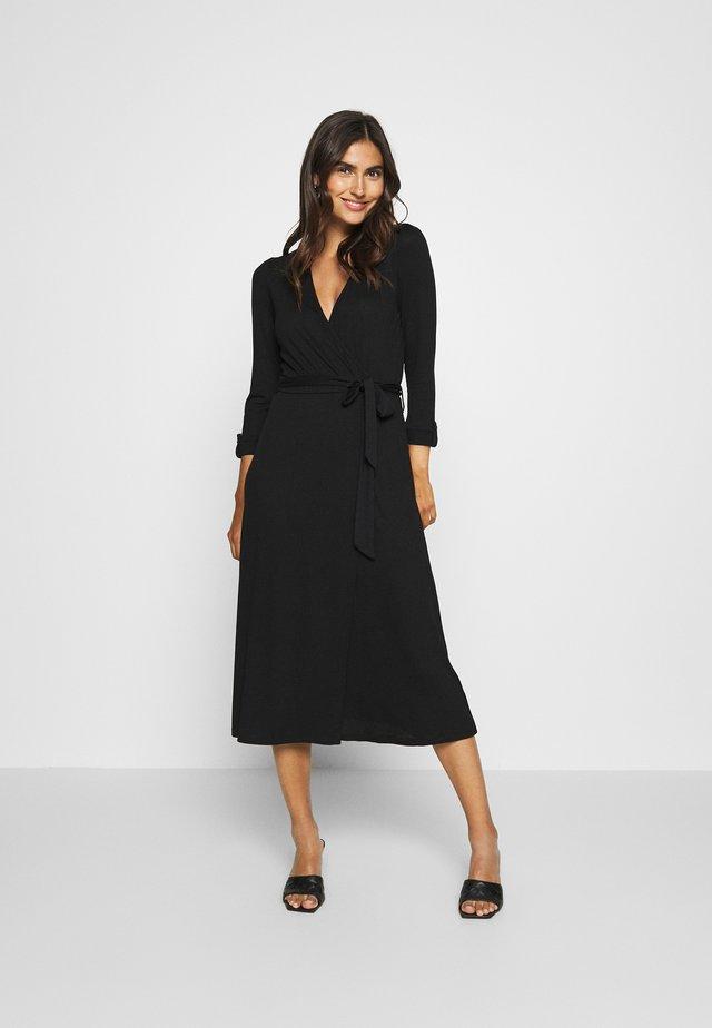 WRAP DRESS - Maxi dress - black