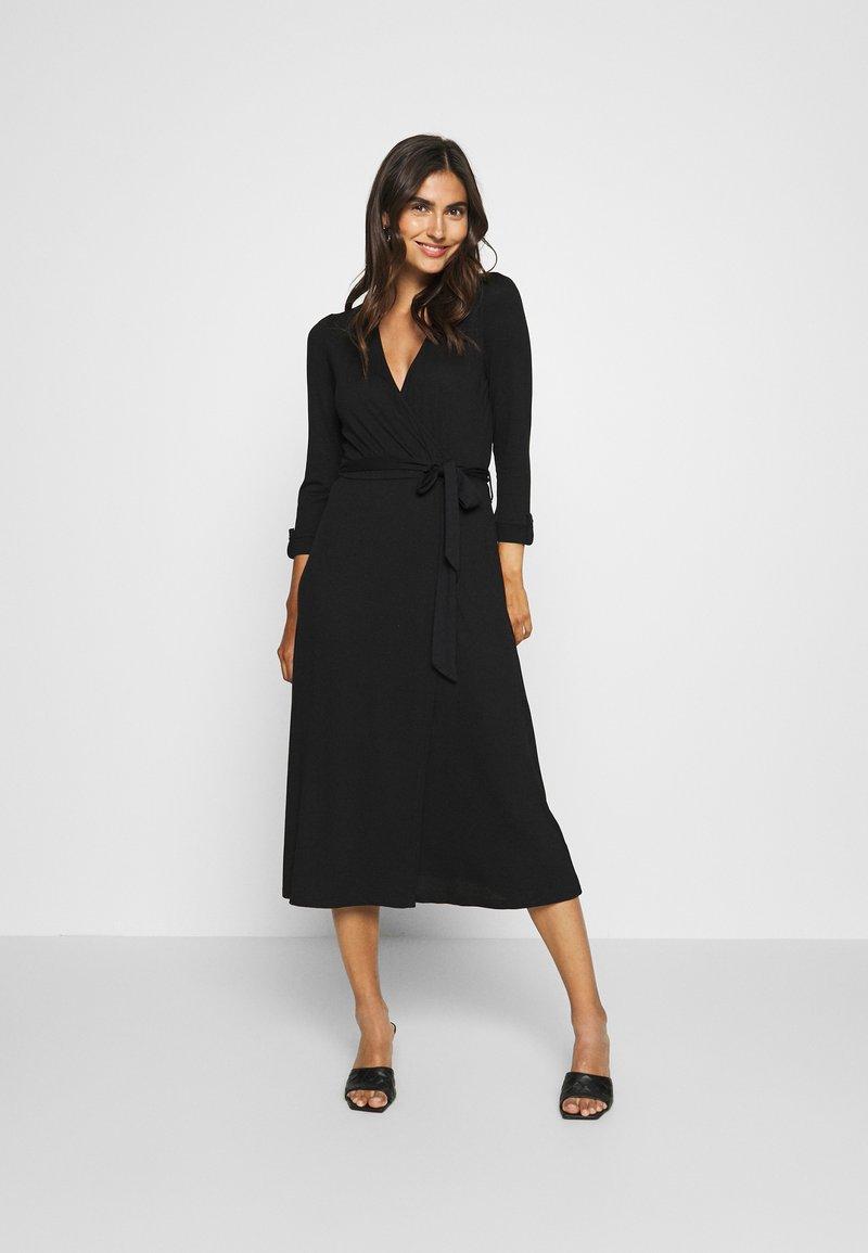 Esprit - WRAP DRESS - Maxi dress - black
