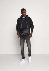 adidas Originals - OUT HOODY - Hoodie - black/white - 1