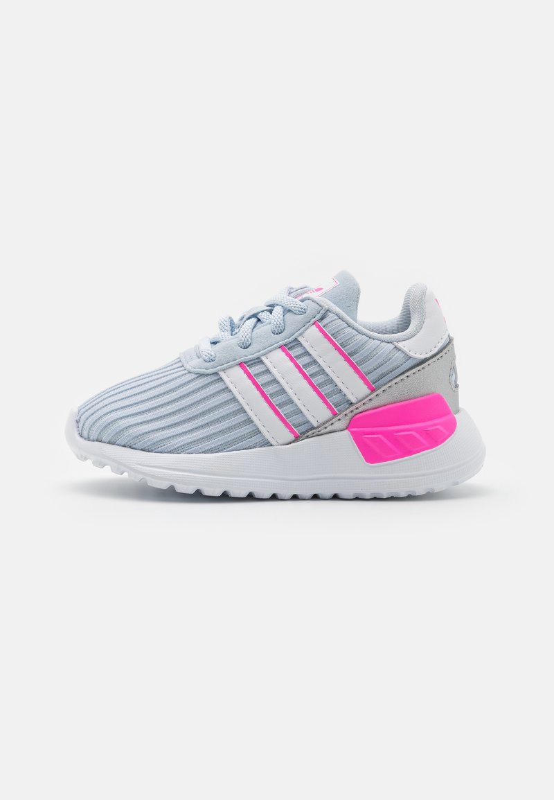 adidas Originals - LA TRAINER LITE UNISEX - Sneakers laag - halo blue/footwear white/screaming pink