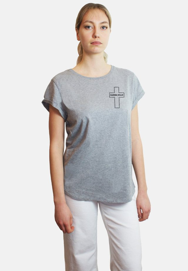 KARMA  - T-shirt imprimé - mottled grey